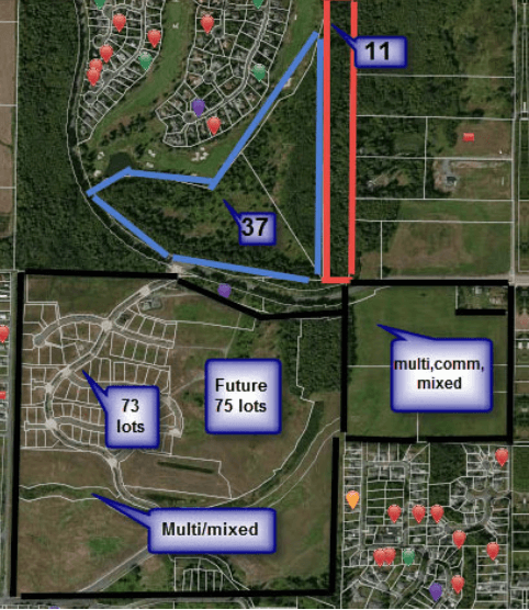 A plan for a housing development in Birch Bay, WA, land acquisition loan provided by Broadmark Realty Capitol
