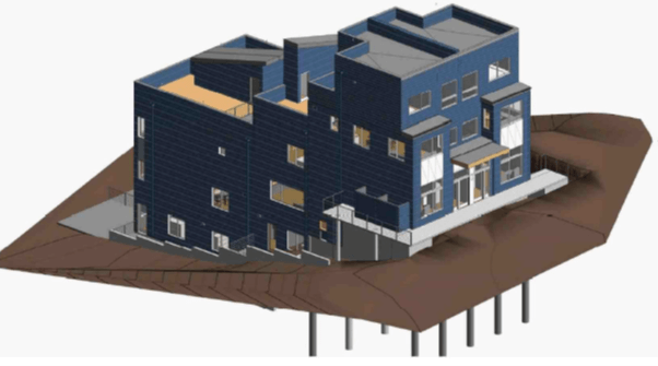 Rendering of a five townhome investment project in Seattle, WA. Financing provided by Broadmark Realty Capital