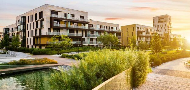 A multifamily development built by a real estate developer